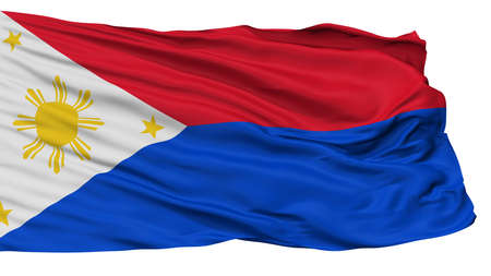 Philippines War Flag, Isolated On White Background, 3D Rendering