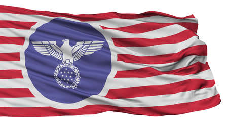 Usa Nazi  Flag, Isolated On White Background, 3D Rendering