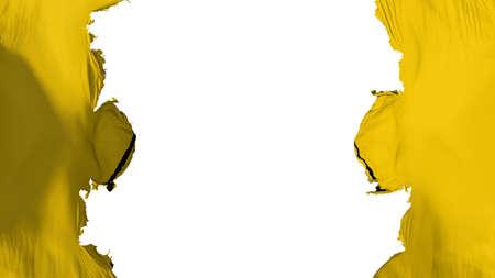 Blasted Radiation flag, against white background, 3d rendering 版權商用圖片