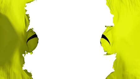 Blasted Warning Hazard Radiation flag, against white background, 3d rendering 版權商用圖片