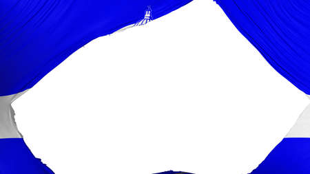 Divided Boise city, capital of Idaho state flag, white background, 3d rendering