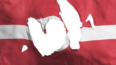 Ragged Latvia flag, white background, 3d rendering Imagens - 125324808