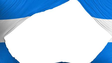 Divided Nicaragua flag, white background, 3d rendering Banco de Imagens