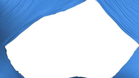 Divided Somalia flag, white background, 3d rendering
