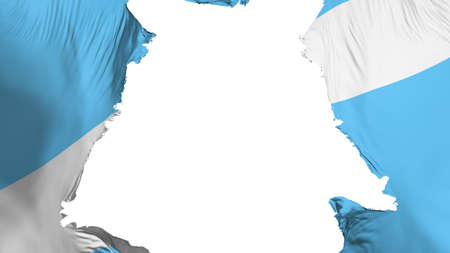 Madison city, capital of Wisconsin state flag ripped apart, white background, 3d rendering 写真素材