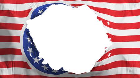 Broken American nazi flag, white background, 3d rendering