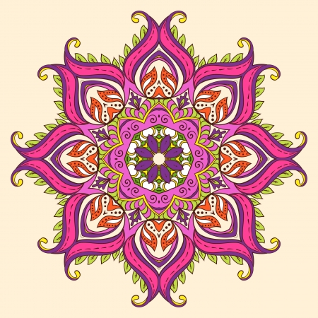 Vector Indian Decorative Lotus   Illusztráció