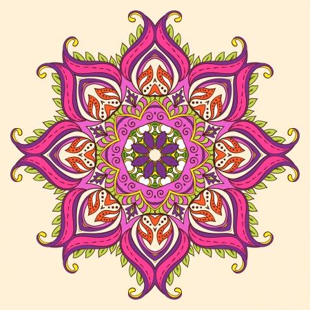 Vector Indian Decorative Lotus Фото со стока - 24661310