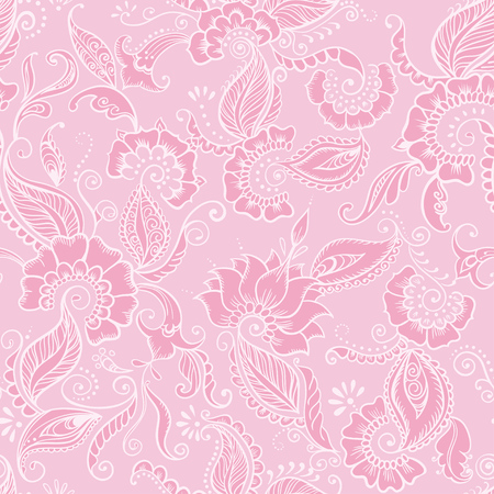 indian fabric: Vector Indian Fabric. Seamless Pattern with flowers