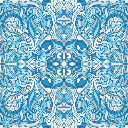 Colorful Ornate Winter Pattern Vector