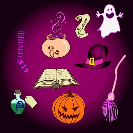 Halloween Objects Set