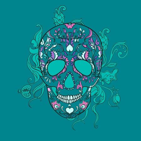 Sugar Skull with ornament