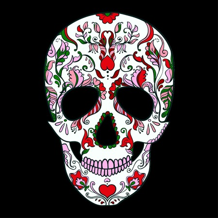 dia de los muertos: Sugar Skull with ornament