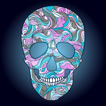 catrina: Sugar Skull with ornament