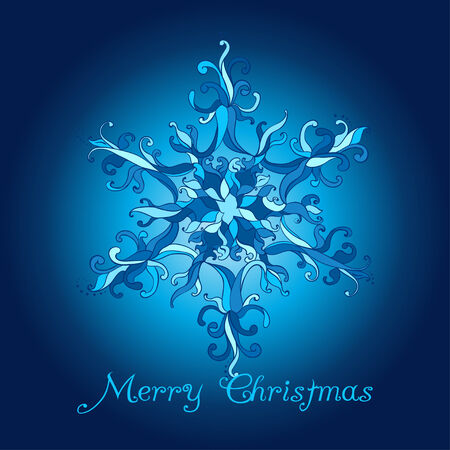 pastel tone: Christmas Card. Lace Snow Flake