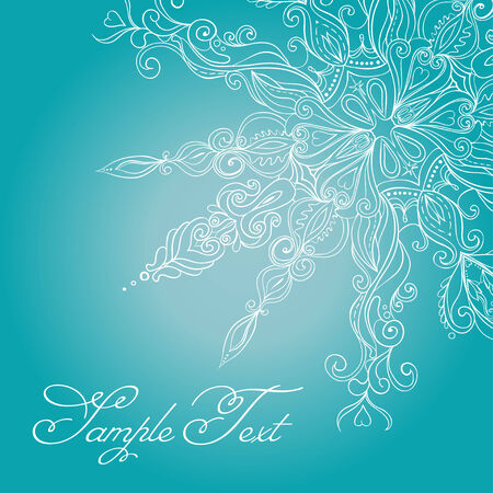pastel tone: Christmas Card. Lace Snowflake
