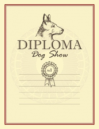 Awards of dog show. Vector