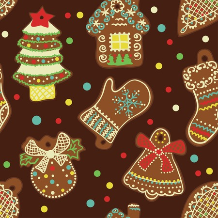 Seamless Pattern Spice-cake Vector
