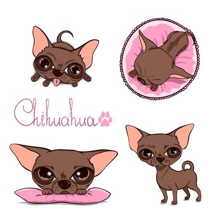Cartoon Illustration of a Cute Chihuahua Illustration