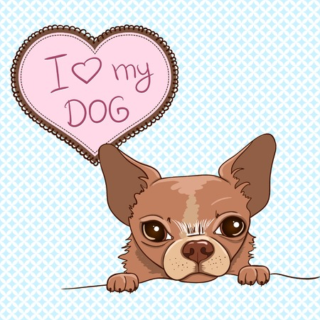 Invitation with Cute Chihuahua Vector