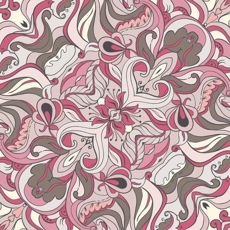 Vector Gentle ornament. Wedding pattern. Silk scarf