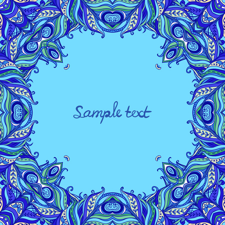 tangling: Vector floral ornate frame with many details