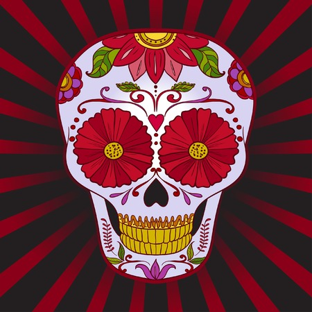 Sugar Skull can be used for T-short, bag Vector