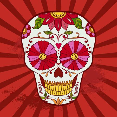 catrina: Sugar Skull can be used for T-short, bag Illustration