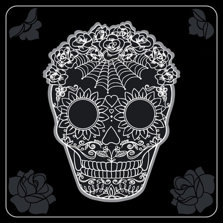 halloween tee shirt: Vector Sugar Skull can be used for T-short, bag