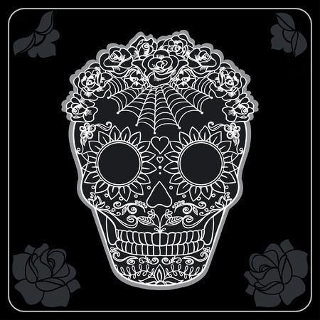 catrina: Vector Sugar Skull can be used for T-short, bag