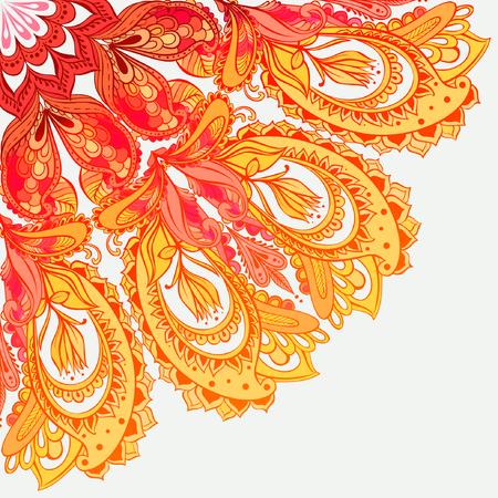 Vector Mandala background. Round Indian Ornament Illustration