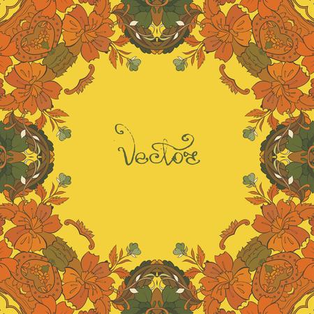 Vecor Design Card with floral frame