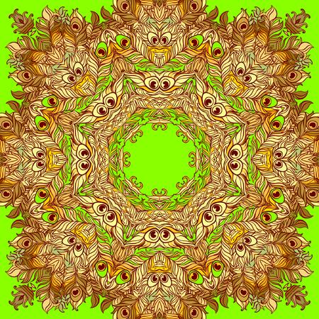 mehendi: Vector Ethnic Mandala. Vintage decorative round element.