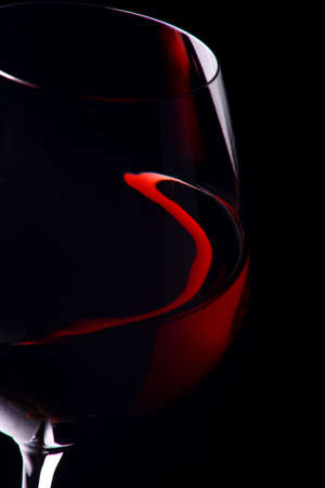BEAUTIFUL GLASS OF RED WINE Stock Photo