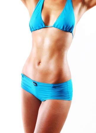 digesting: woman body Stock Photo