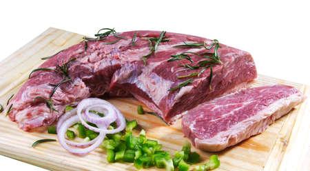 cruda: row meat Stock Photo