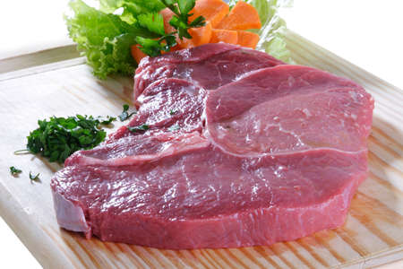 nutriments: row meat Stock Photo