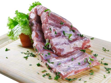 cerdo: row meat ribs