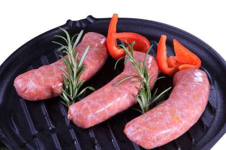 cerdo: row meat salsich