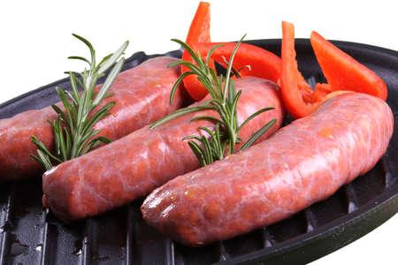 cruda: row meat salsich