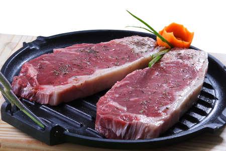 cerdo: row meat Stock Photo