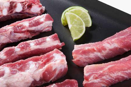 row meat Stock Photo
