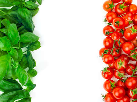 italian flag: The Italian flag made up of fresh vegetables  Stock Photo