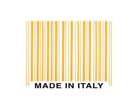 barre: barcode made with italian spaghetti  Stock Photo