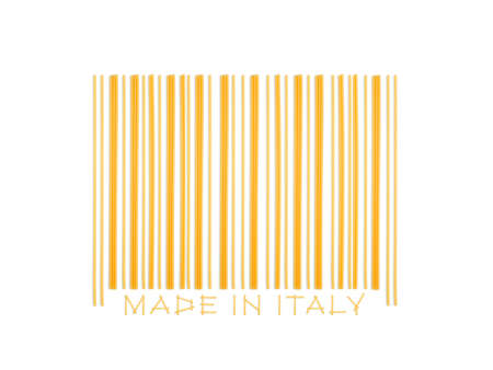 barcode made with italian spaghetti  photo