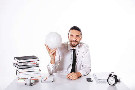 Procurator working in a football business Reklamní fotografie
