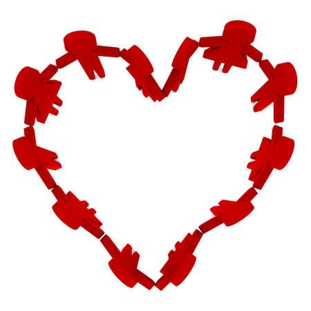 In love create a heart of love