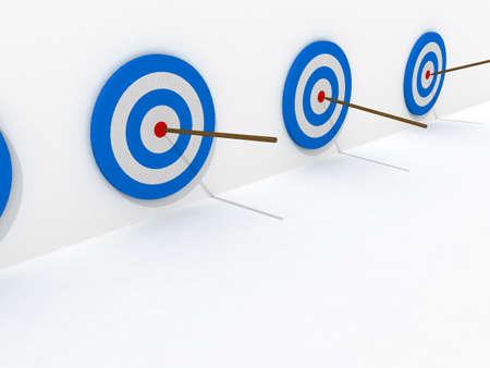 dart series: Winner target in series Stock Photo
