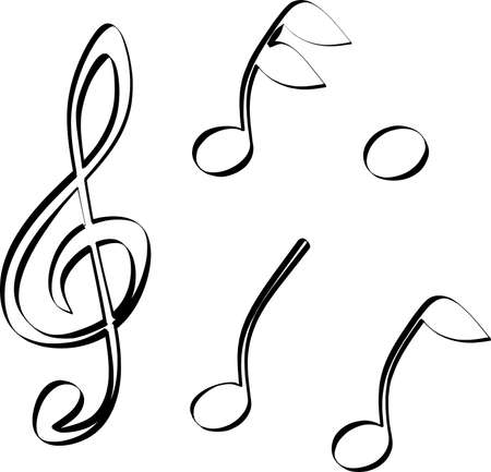 re do: Treble clef and notes sketched