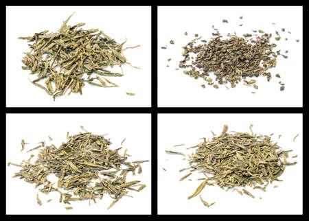 gunpowder tea: details of various tea  bancha, gunpowder, lung ching, sencha